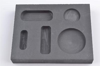 Graphite Casting Ingot Mold Metal Refining Scrap Bar Coin Combo 1/4 1/2 1 oz