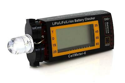 Tenergy Intelligent Cell Meter Alarm Digital Battery Checker for LiPO/LiFePO4