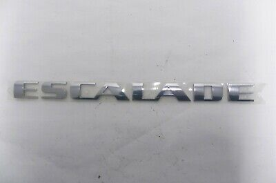 2007-2014 CADILLAC ESCALADE GM#15162148 NAMEPLATE EMBLEM DECAL CHROME/SILVER