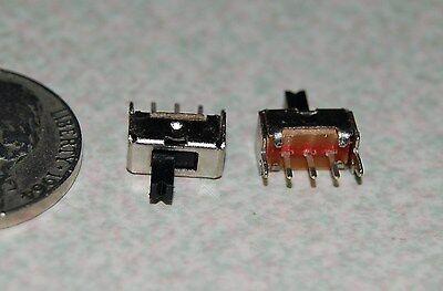 5pcs Ss12d07 3 Pin Pcb 2 Position Spdt 1p2t Mini Vertical Slide Switch