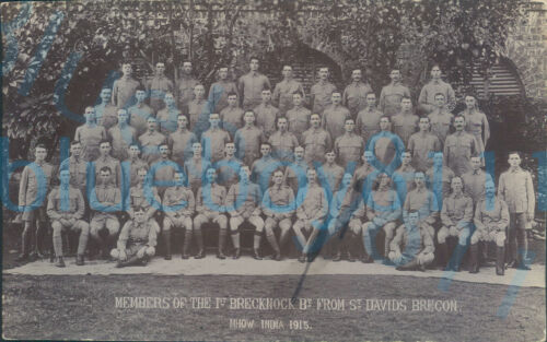 WW1 Brecknockshire Battalion Members from St Davids Brecon  Mhow India 1915