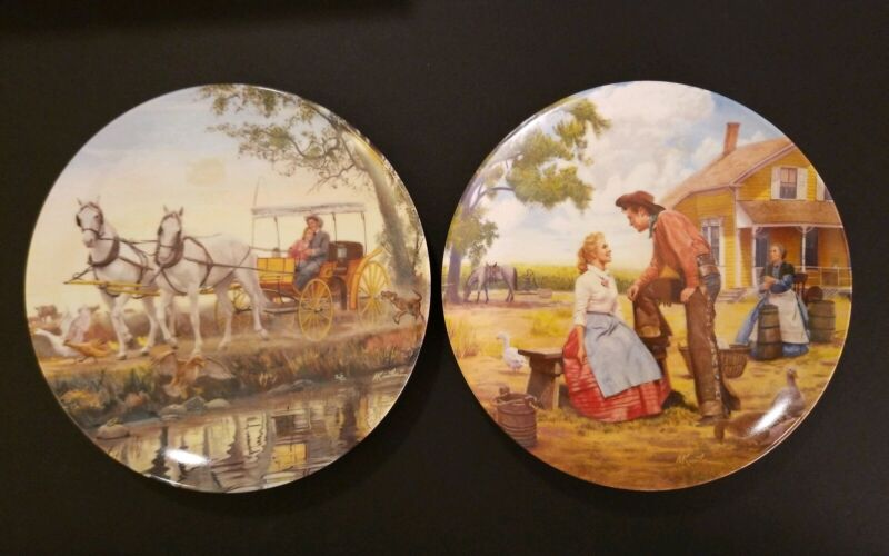 """Vintage """"OKLAHOMA"""" 1985 Knowles Collector 8.5"""" Plate 1st & 2nd Issue"""