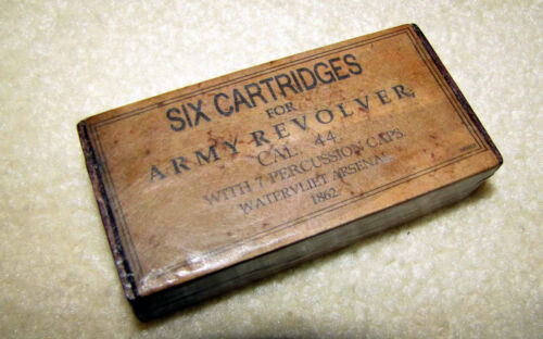 Old Antique Style Cartridge Ammo Box Civil War for Colt 1851 Navy 1860 Army