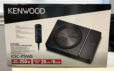 "Kenwood KSC-PSW8 250 Watt Individual 8"" Under Seat Powered Subwoofer Enclosure NEW"