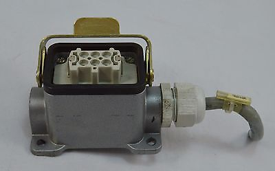 Amphenol Tuchel 226 6 Pin Female Bulkhead Locking Connector Used