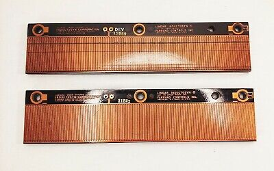 Lot Of 2 Farrand Controls Barinch Linear Inductosyn Scale Model 100 Cat 204320