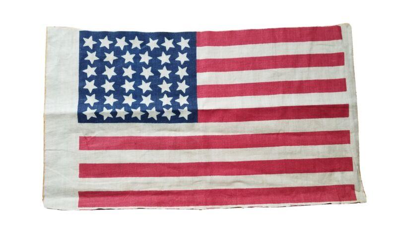 """38 Star  Centennial Flag ~ 7"""" x 11"""" Dancing Stars"""