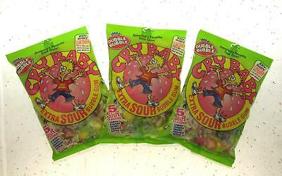 Sour Bubble Gum - Dubble Bubble Cry Baby 5 Sour Flavors 4oz bag ~  Extra Sour Gum Lot of 3