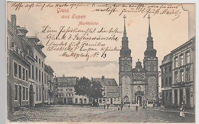 (114922) AK Gruss aus Eupen, Marktplatz 1901