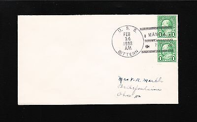 Us Navy Cover Minesweeper Uss Bittern 1938 Manila Wwii Scuttled 9Z