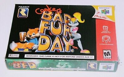 NINTENDO 64 - Conker's Bad Fur Day - Mint Condition - CIB MIB NIB comprar usado  Enviando para Brazil
