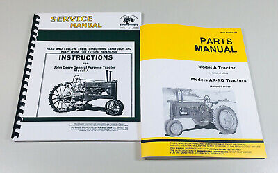 Service Operators Manual Parts Catalog For John Deere A Unstyled Tractor