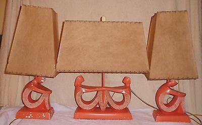 Set of 3 Mid-Century Modern Mod/Pop Art People Lamps 1950's Modernist Sculpture
