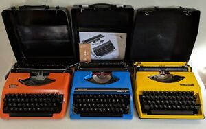 Retro Vintage 70s Coloured Typewriters Brother Silver Reed Adler Tippa Keysborough Greater Dandenong Preview