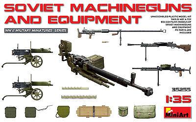 MINIART #35255 WWII Russian Machineguns & Equipment in 1:35