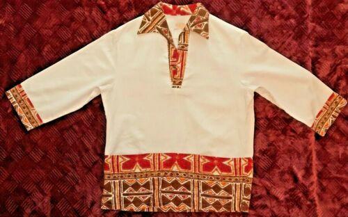 Vintage Ka Lani Pull over 3/4 sleeves Hawaiian Shirt, Kane Size M