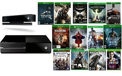 Microsoft Xbox One with Kinect 500GB Black Console W/ 13 Games included for sale  Shaw AFB