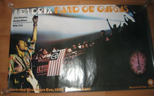 JIMI HENDRIX Band of Gypsys Subway/Record Store Huge Poster ORIGINAL