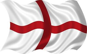 2 x ST GEORGES FLAG ENGLAND VINYL DECAL GRAPHIC CAR VAN IPAD LAPTOP STICKER