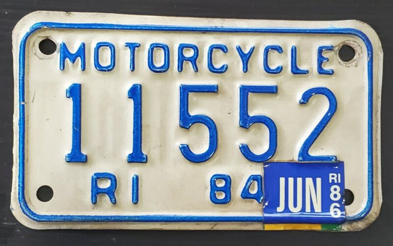 1984 Rhode Island Motorcycle License Plate