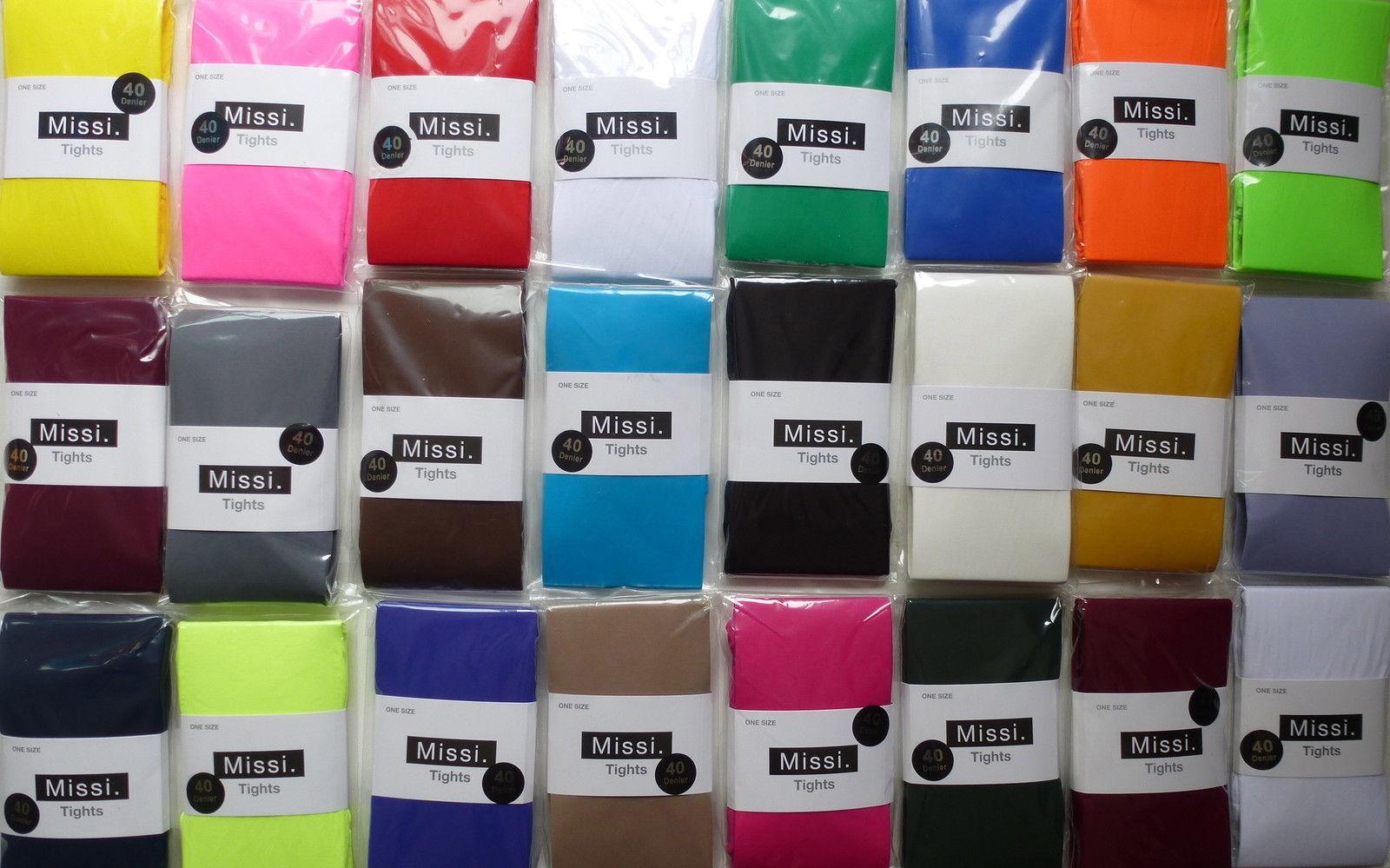 Mysasi London 100 Denier Ladies Opaque Tights Various Colours