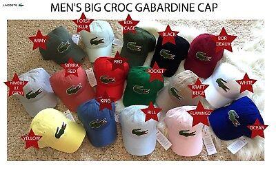 Lacoste Men's Classic Gabardine Premium Cotton Big Croc Logo Adjustable Hat Cap ()