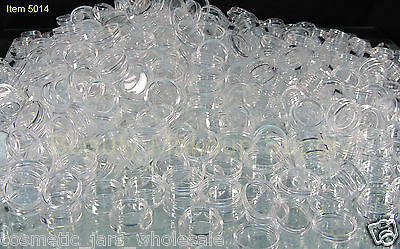 500 Cosmetic Jars Wholesale Plastic Beauty Containers 5 Gram Ml Clear Lid -