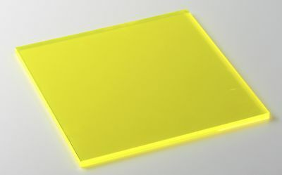 Yellow Fluorescent Acrylic Plexi Sheet 18 X 3 X 3 9097 Pack Of 4