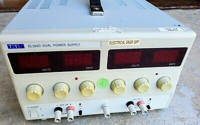 Thurlby Thandar El302d Compact Linear Dual Dc Power Supply 30v 2a 120w