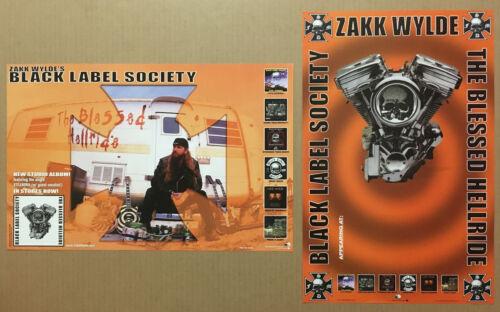 Zakk Wylde BLACK LABEL SOCIETY Alternate Art  DOUBLE SIDE PROMO POSTER for 03 CD
