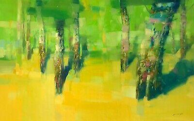 Vibrant Summer, Original Oil painting, Handmade artwork, One of a kind