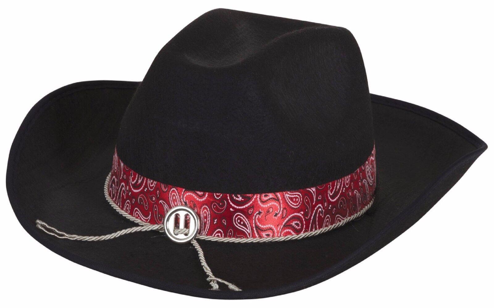 Adultos damas Mens negro vaquero oeste salvaje oeste disfraces traje  sombrero a9f734b011d