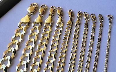 "AUTHENTIC 10K SOLID GOLD MEN WOMEN CUBAN LINK CHAIN SIZE16-36"" FREE SHIPPING"