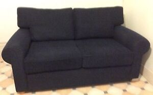 Freedom Furniture Carnaby 2 Seater Sofa - Navy Maylands Norwood Area Preview