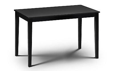 Hudson Black Wooden Rectangle Dining Table