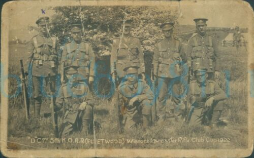 D Company 5th Kings Own Royal Rifles Fleetwood winners Lancashire cup 1922
