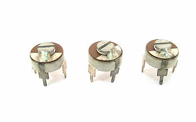 Miniature Trimmer Capacitors Multi-turn 25-75pf Pcb Mount 10mm .40 3lot