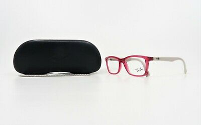 Ray-Ban Jr Unisex Rectangular Hot Pink/Taupe Glasses w/ Case RB 1562 3747 (Hot Pink Ray Bans)