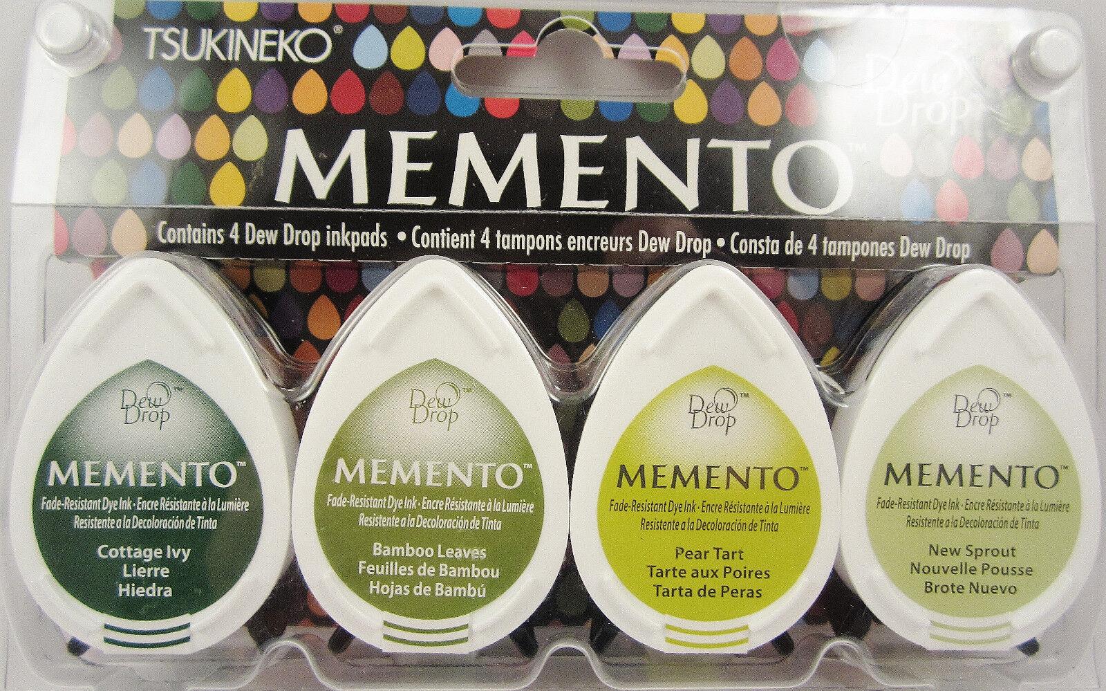 Tsukneko Memento Dew Drop Inkpads 4 Pack Your Choice