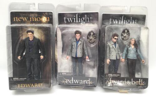 3 Twilight Saga New Moon NECA Action Figures Edward Bella Sealed
