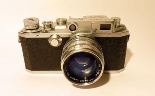 Canon IIc Rangefinder 35mm Camera & Serenar 50mm Lens