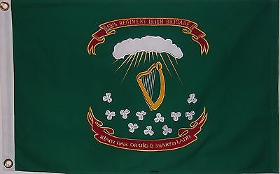1st REGIMENT 69th IRISH BRIGADE FLAG - 2' X 3' HEAVY COTTON CIVIL WAR - NEW YORK