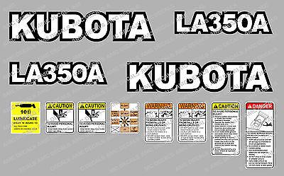 Kubota La350a Loader Compact Tractor Decal Sticker