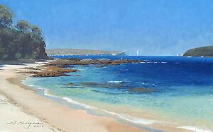 At North Balmoral Beach- Original Australian Seascape Oil Painting.