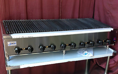 New 60 Radiant Char Broiler Grill Gas Stratus Srb-60 1258 Commercial Restaurant