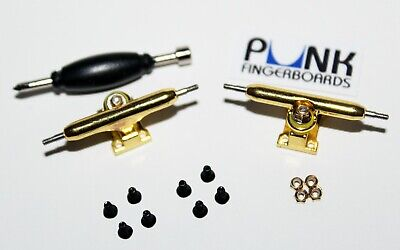 Punk Fingerboard Tuning Kit Lock Nuts Pink Bushings Pivot Cups Steel Washers