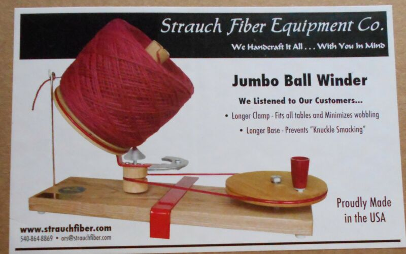 Jumbo Strauch Ball Winder up to 16 oz Yarn Ball