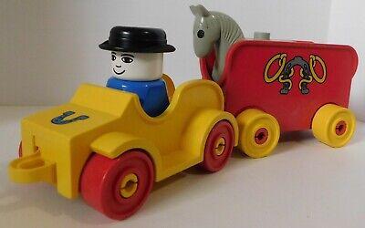 Lego DUPLO SET 2627 RODEO COWBOY HORSE LOT VINTAGE vehicle trailer minifigure