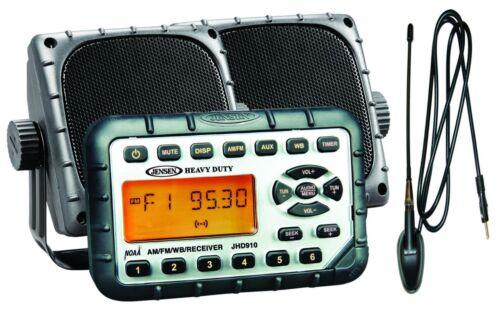 JENSEN JHD910PKG Heavy Duty MINI Waterproof Radio Package AM/FM/WB NOAA