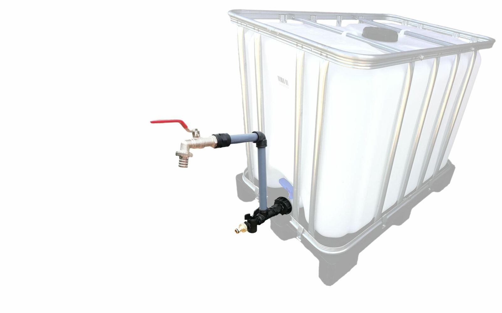 FN-Technik Schwanenhals DN 50 IBC Adapter Container Regenwassertonne Wasserfass Gardena komp